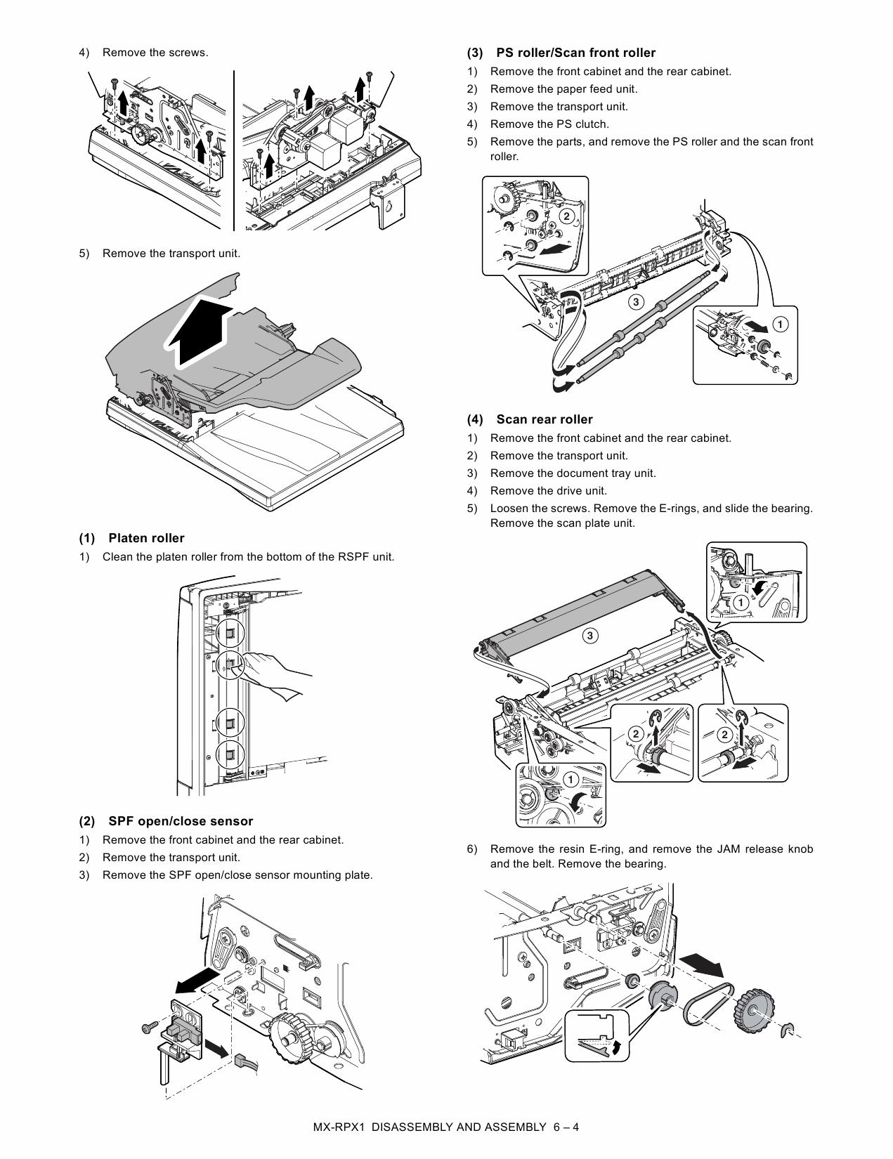 SHARP MX RPX1 Service Manual